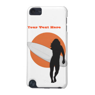 Surf's Up! Catch The Wave! Female Surfer iPod iPod Touch (5th Generation) Cover