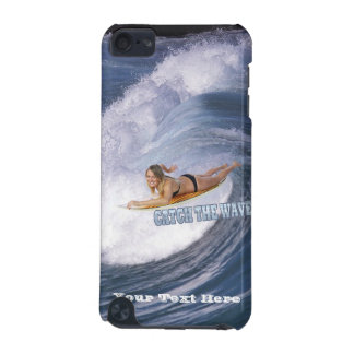 Surf's Up! Catch The Wave! Female Surfer iPod Touch 5G Case