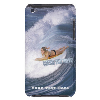 Surf's Up! Catch The Wave! Female Surfer iPod Touch Case