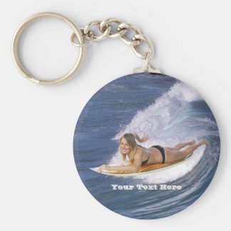 Surf's Up!  Catch The Wave! Keychain