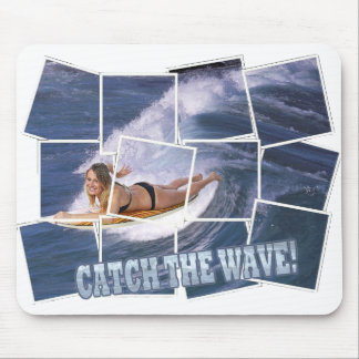 Surf's Up!  Catch The Wave! Mouse Pad