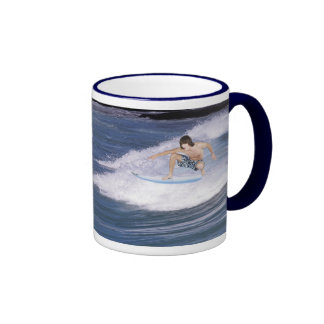 Surf's Up!  Catch The Wave! Ringer Coffee Mug