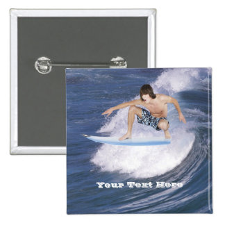 Surf's Up!  Catch The Wave! Pinback Button