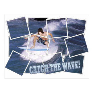 Surf's Up!  Catch The Wave! Postcard