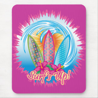Surf s Up - Surfer Girl Mouse Pad
