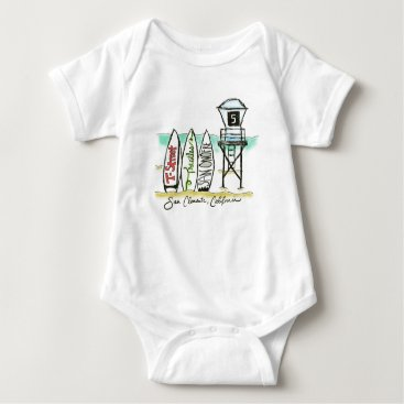 Toddler & Baby themed Surf San Clemente Baby Bodysuit
