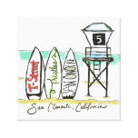 Surf San Clemente Canvas Wall Art Canvas Print