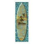 Surf Shack Hawaiian Faux Wood Double-Sided Mini Business Cards (Pack Of 20)