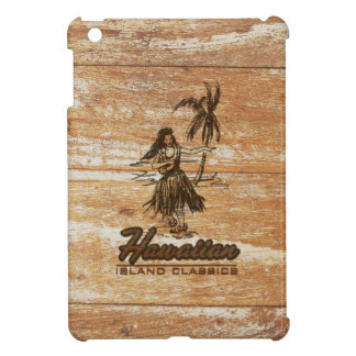 Surf Shack Hawaiian Faux Wood iPad Mini Cases