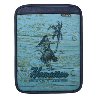Surf Shack Hawaiian Faux Wood iPad Sleeve