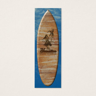 Surf Shack Hawaiian Faux Wood Mini Business Card