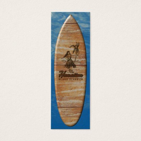 Surf Shack Hawaiian Faux Wood Mini Business Card