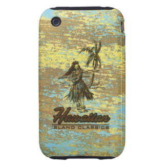 Surf Shack Hawaiian Faux Wood Tough iPhone 3 Cover