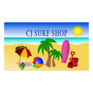Surf Shop Business Card Business Card