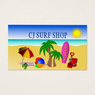 Professional Business Surf Shop Business Card