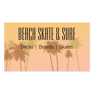 Surf Shop Double-Sided Standard Business Cards (Pack Of 100)