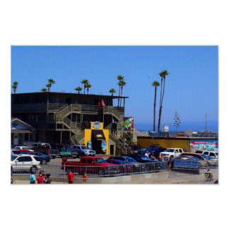 Surf Shop on the Beach Poster