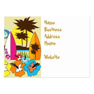 Surf Shop Surfing Ocean Beach Surfboards Palm Tree Large Business Cards (Pack Of 100)
