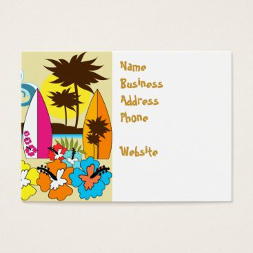Beach Themed Surf Shop Surfing Ocean Beach Surfboards Palm Tree Business Card