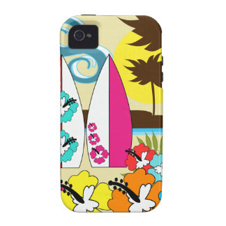 Surf Shop Surfing Ocean Beach Surfboards Palm Tree Vibe iPhone 4 Case