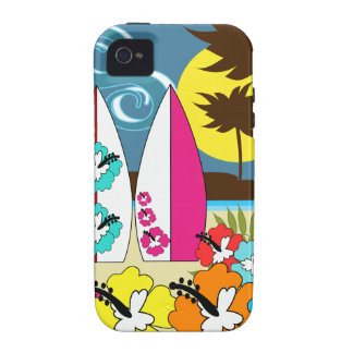 Surf Shop Surfing Ocean Beach Surfboards Palm Tree Case-Mate iPhone 4 Covers
