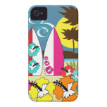 Surf Shop Surfing Ocean Beach Surfboards Palm Tree iPhone 4 Case