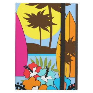 Surf Shop Surfing Ocean Beach Surfboards Palm Tree iPad Folio Cases