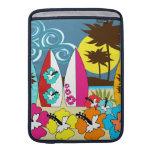 Surf Shop Surfing Ocean Beach Surfboards Palm Tree MacBook Air Sleeves