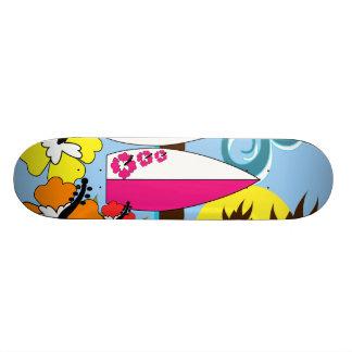 Surf Shop Surfing Ocean Beach Surfboards Palm Tree Custom Skate Board
