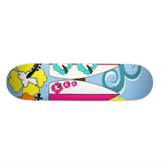 Surf Shop Surfing Ocean Beach Surfboards Palm Tree Skateboard