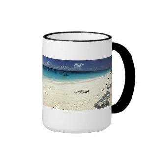 Surf Side Beach Panorama Coffee Mugs