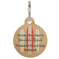 Surf Sign Customize Monogram Hawaiian Surfboards Pet ID Tag