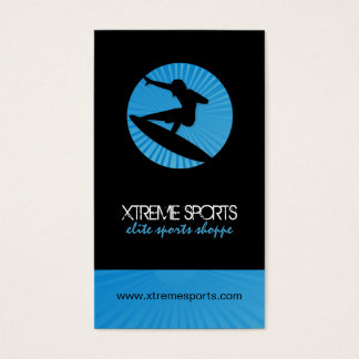 Surf Silhouette Business Cards