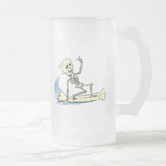 suRf SkELEtOn Frosted Glass Beer Mug