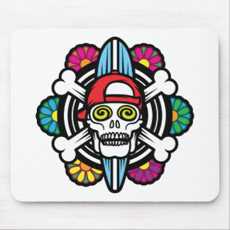 Surf Skull Mouse Pad