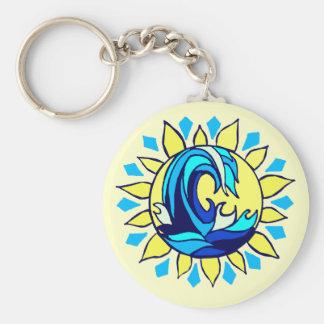 Surf sun key chain