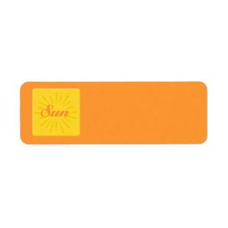 Surf Sun Label
