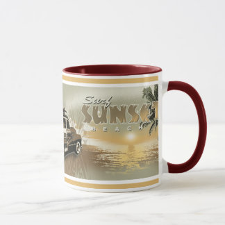 surf sunset mug