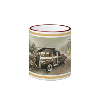 surf sunset ringer coffee mug