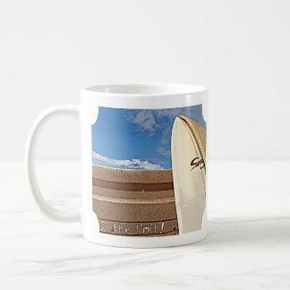 Surf surfboard 2the limit surfing Brown cream blue Classic White Coffee Mug