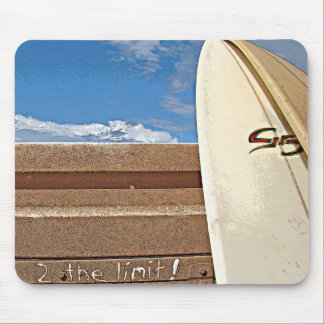 Surf surfboard 2the limit surfing Brown cream blue Mouse Pad