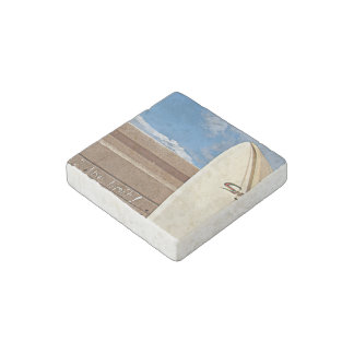 Surf surfboard 2the limit surfing Brown cream blue Stone Magnet