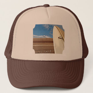 Surf surfboard 2the limit surfing Brown cream blue Trucker Hat