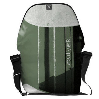 Surf surfboard quiver surfing green white messenger bag