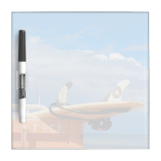Surf surfboard rack surfing blue white clouds dry erase board