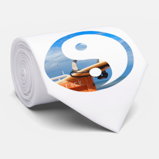 Surf surfboard rack surfing blue white clouds neck tie