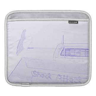Surf surfboard shack attack surfing purple white sleeve for iPads