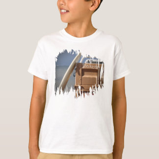 Surf surfboard stoked surfing blue brown T-Shirt