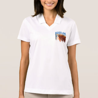Surf surfboard surfing blue brown polo shirt