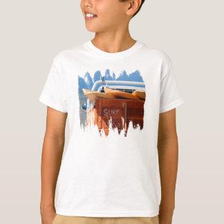 Surf surfboard surfing blue brown T-Shirt